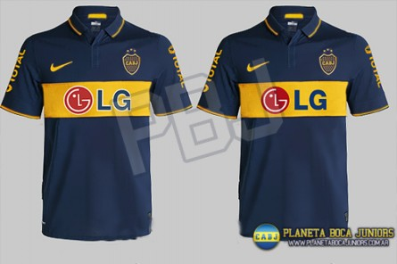La nueva camiseta de Boca Juniors ( ap 2009)