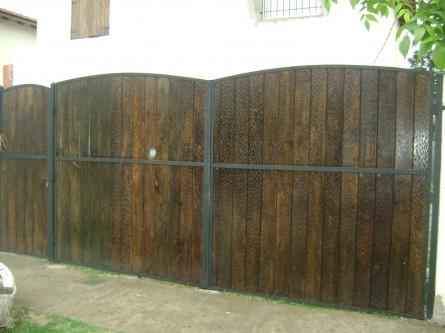 Porton y puerta de reja de 4m