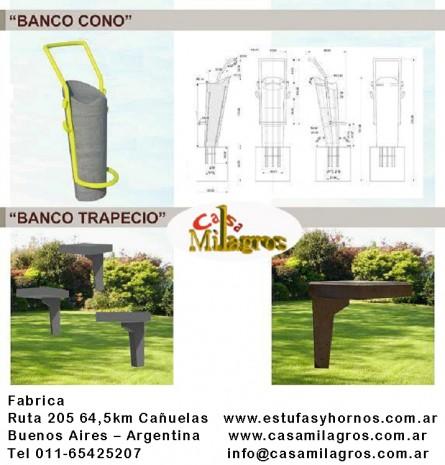 bancos de de cemento y muebles para jardin de cemento