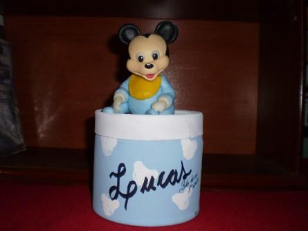 Tarjeta souvenir Mickey bebé - Imagui